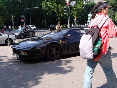 Ferrari with Tourist 2