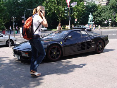 Ferrari with Tourist
