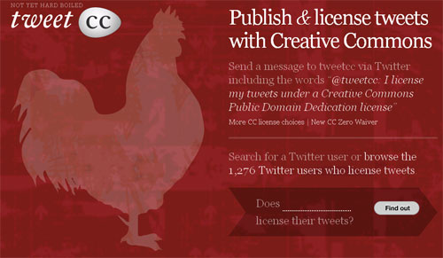 TweetCC Creative Commons Twitter