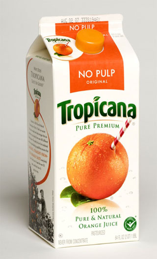 Tropicana old packaging