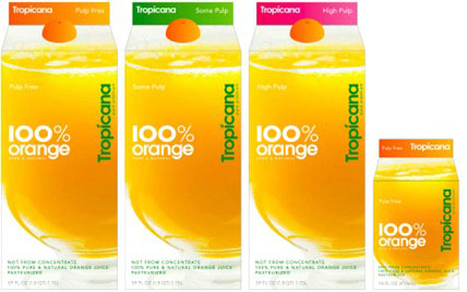 Tropicana new packaging