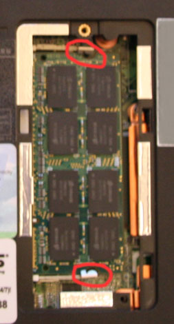 1005ha memory module in locked position